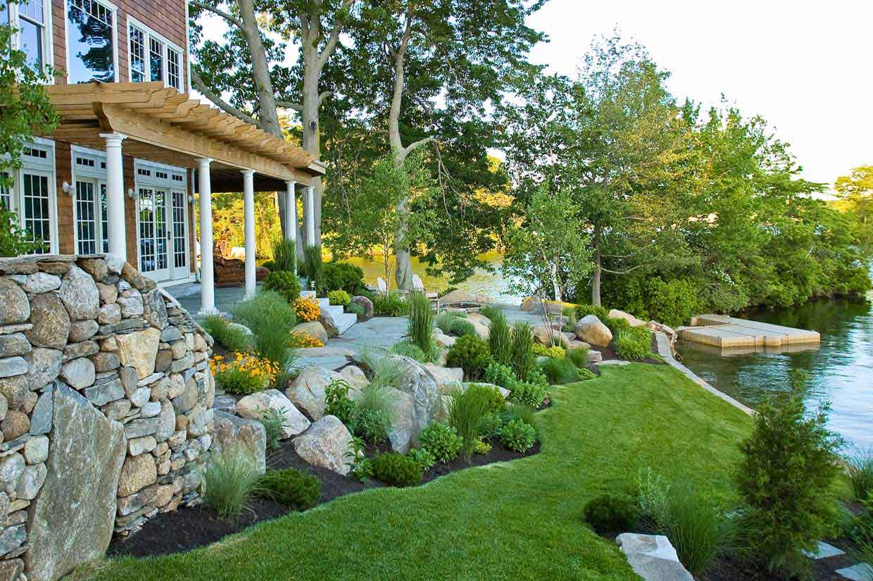 House Backyard Landscape : Lakehouse Landscaping, Backyard Ideas, Garden Design, Landscaping
